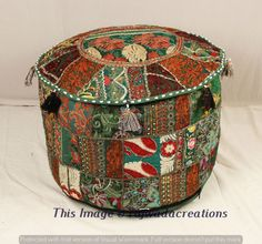 Special Section Indian Tie Dye Mandala Pouf Ottoman Cover Round Floor Footstool Ethnic Pouffe Home, Furniture & Diy