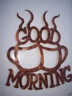 Good Morning Coffee Cups Kitchen Decor Metal Wall Art #coffee, #drinks, #pinsland, https://apps.facebook.com/yangutu