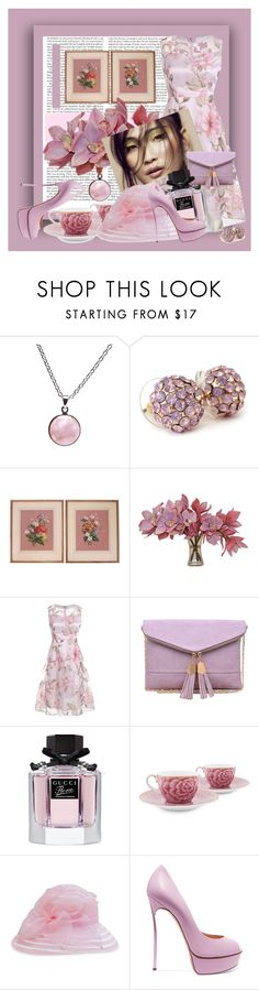 """Where There is Pink, There is Love"" by jakenpink ❤ liked on Polyvore featuring Puck Wanderlust, The French Bee, Urban Expressions, Gucci, PiP Studio, F&M Hats and Casadei"
