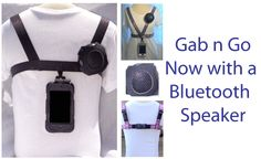 A mobile device harness with clip on blue tooth speaker for extra sound by Safe n Sound Mobile Ipad Accessories, Computer Accessories, Ipod Touch Cases, Bluetooth Speakers, Blue Tooth, Ipad Mini, Headset, Iphone, Patent Pending