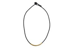 Brass Tube & Cord Necklace