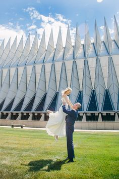 Air Force Academy chapel wedding-beautiful, i love this so much pride for the country as well as love between two people:), <3