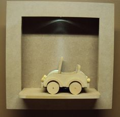 Quadro com led meio de transporte carrinho decoração bebe Luartes Decoração.Nicho bebe,quadro nicho, nicho
