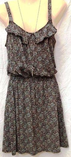 Flower Dress by Express~Small~Small Flower Pattern~Ruffles~EUC #Express #Sundress #SummerBeach