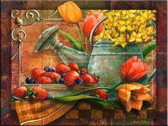 Kitchen Tile Murals | Spring Still Life - JS - Tile Mural