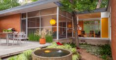 atomic ranch: midcentury marvels. Awesome windows, creating lovely indoor/outdoor relationship in this ranch home reno.