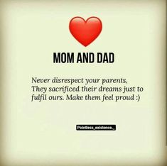 Beautiful Quotes For Mom And Dad Love My Parents Quotes, Mom And Dad Quotes, I Love My Parents, Mom Quotes From Daughter, Love You Dad, Father Quotes, Quotes For Kids, Family Quotes, Son Sayings