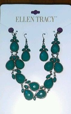 Brand new ellen tracy earring and necklace set