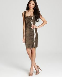 Alice + Olivia - Norah Leather Sleevelss Dres - $795.00 - Click on the image to shop now