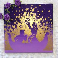 Tangled Painting//Tangled Lanterns//Rapunzel Painting//Princess Room - story inspiring by Art - Disney Characters Disney Diy, Disney Rapunzel, Deco Disney, Art Disney, Disney Crafts, Disney Love, Rapunzel Room, Princess Rapunzel, Tangled Room