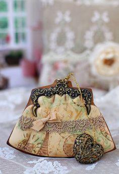 Cookies Пряничный кошелек в винтажном стиле