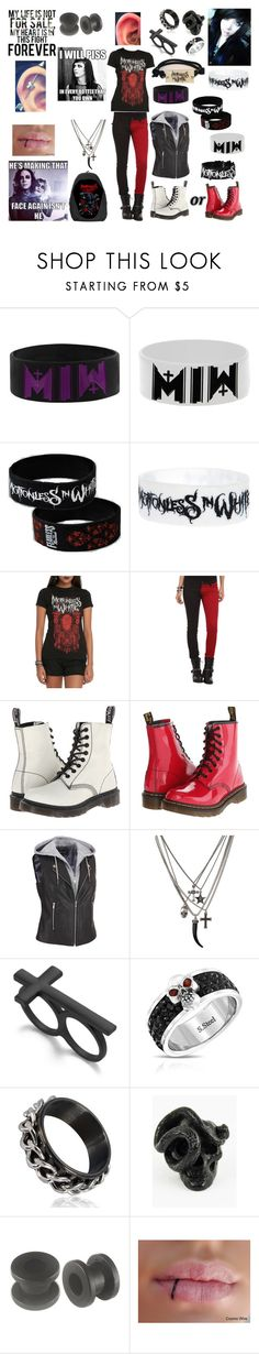 """Motionless In White"" by awkward-emo-18 ❤ liked on Polyvore featuring Tripp, Dr. Martens, Material Girl and Bling Jewelry"