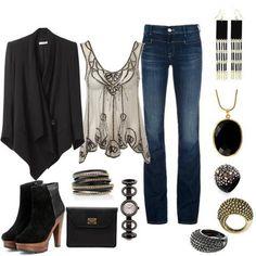Ideal para una cena o salida por la noche. Busca más ideas de outfits en https://www.facebook.com/1001ConsejosOficial