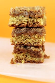 Williams-Sonoma Pecan Pumpkin Butter Dessert Squares    18.25 oz. package yellow cake mix, set aside one cup  1/2 cup butter, melted  3 large eggs  13.5 oz. jar of Muirhead Pecan Pumpkin Butter  2 Tbsp milk  1 Tbsp flour  1/4 cup sugar  1/4 cup butter, softened  1 tsp cinnamon