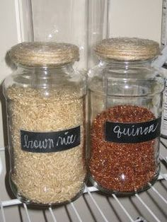 I love the various containers that are out there for storing food in the pantry.  And, now that I actually have  a pantry, I'd love to be ab...