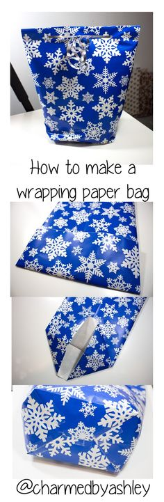 Charmed By Ashley: How to make a gift bag out of wrapping paper