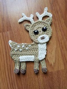 Woodland Animals Applique Pack- Crochet Pattern Only- Forest Animals- Fox- Deer- Bear- Owl- Crochet Applique Pattern - applikationen - Häkeln Crochet Applique Patterns Free, Crochet Flower Patterns, Crochet Motif, Crochet Flowers, Crochet Appliques, Free Crochet, Crochet Deer, Crochet Bunny, Crochet Animals