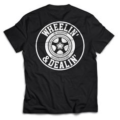 WHEELIN & DEALIN TEE - BLACK | 101-squadron