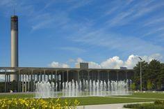 Main Entry Plaza & fountain #UAlbany