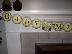 Baby Makes Three - baby showe banner - YOU PICK COLORS - Hayley Wise Owl Collection. $30.00, via Etsy.