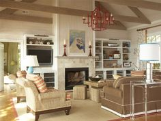 ndly Living Room Designs 0 chimes    Need some redecorating inspiration? These lovely living rooms are chic enough for entertaining, but comfortable enough for Friday's family movie night.