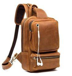 Vintage Leather Sling Backpack for Men Cow Leather, Vintage Leather, Vintage Men, Leather Belts, Backpack Travel Bag, Sling Backpack, Sling Bags, Travel Bags, Crossbody Shoulder Bag