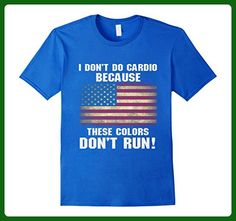 Mens Funny 4th of July Shirts-I Don't Do Cardio for Men or Women Large Royal Blue - Workout shirts (*Amazon Partner-Link)