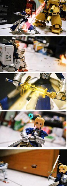 Video: http://vitamincr.com/2012/05/3000-photos-30-days-lots-of-love-epic-stop-motion-gundam-battle/ 3,000 photos, 30 days, lots of love -> Epic Stop Motion (Gundam) Battle