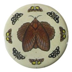 John Derian Company Inc — Butterfly Collage Mirror Button