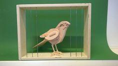 3D vogel gemaakt van hout