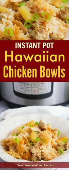 Instant Pot Hawaiian Chicken Bowls are one of the most-requested dinners by my kids. They're so easy to make too!These Instant Pot Hawaiian Chicken Bowls are one of the most-requested dinners by my kids. They're so easy to make too! Instant Pot Pressure Cooker, Pressure Cooker Recipes, Pressure Cooking, Slow Cooker, Instant Cooker, Pressure Pot, Rice Cooker, Frozen Chicken Recipes, Crockpot Hawaiian Chicken