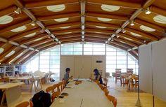 坂茂建築設計 Shigeru Ban Architects 京都造形芸術大学坂ゼミ仮設スタジオ http://www.kenchikukenken.co.jp/works/1300244164/365/