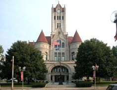 """Inspiration for my novel """"Daffodil Sunrise"""": Greenfield, Hancock County Courthouse, Indiana"""