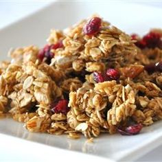 Homemade granola. Going to try this! No preservatives and you control how much sugar to add. - Deb http://allrecipes.com/recipe/megans-granola/detail.aspx?event8=1&prop24=SR_Title&e11=granola&e8=Quick+Search&event10=1&e7=Home+Page