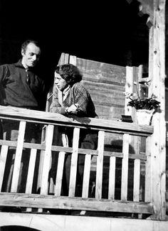Wladyslaw Strzeminski painter and his wife Katarzyna Kobro sculpture artist in Wisla, Poland
