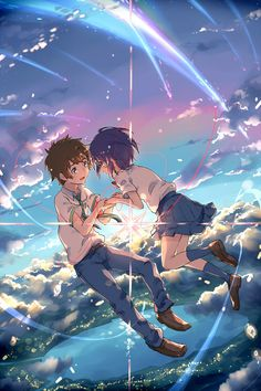 Anime music: The Best Anime Songs to Put on Your Playlist. Find the anime love songs, the best anime singers, anime sad songs, and all the best anime songs. Manga Anime, Film Manga, Film Anime, Anime Songs, Anime Panda, Anime Pokemon, Kawaii Anime, Cosplay Anime, Mitsuha And Taki