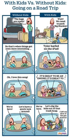 With Kids vs. Without Kids: Road Trip!   More LOLs & Funny Stuff for Moms   NickMom