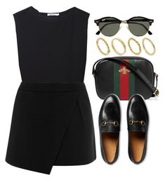 """#14654"" by vany-alvarado ❤ liked on Polyvore featuring T By Alexander Wang, Gucci, Warehouse, Ray-Ban and Made"