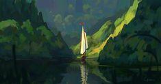 Peaceful cruise, Roberto Gatto on ArtStation at https://www.artstation.com/artwork/peaceful-cruise