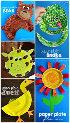 Creative Paper Plate Crafts for Kids for # Plate Art Projects Paper Plate Art, Paper Plate Crafts For Kids, Crafts For Kids To Make, Paper Plates, Projects For Kids, Art For Kids, Craft Projects, Craft Ideas, Project Ideas