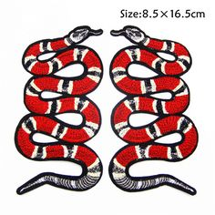 2pcs Snake Patch ,A Set of Embroidery Patch, Embroidery Snake Applique,Fabric Iron on Snake Patch by EsonfashionI on Etsy https://www.etsy.com/listing/497787125/2pcs-snake-patch-a-set-of-embroidery