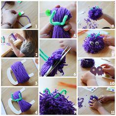 How to Make a Pom Pom Monster from the Toy Emporium #TargtToys #shop