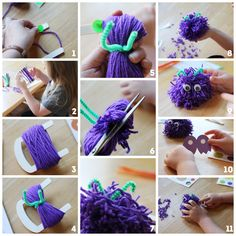 Sunny with a Chance of Sprinkles: How to Make a Pom Pom Monster from the Toy Emporium