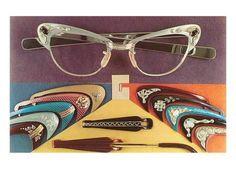 Fashion Eye Glasses, Cat Eye Glasses, Funky Glasses, 50s Glasses, Brown Glasses, Vintage Outfits, Vintage Fashion, Cheap Ray Ban Sunglasses, Sunglasses Outlet