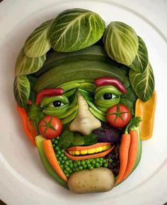 Rosto de vegetais!