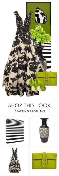 """""""Butterflies #9"""" by diannecollier ❤ liked on Polyvore featuring Retrò, Jovani, Hermès, Manolo Blahnik and polyvoreeditorial"""