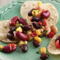 This fresh and colorful black-eyed pea dip has a little spice from the ...