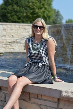 A Gingham Transition   Style in a Small Town