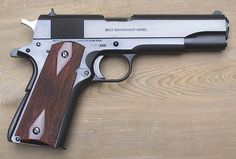 The .45 caliber Model 1911A, a Browning design now over 100 years old--the most copied semiautomatic handgun design in history.
