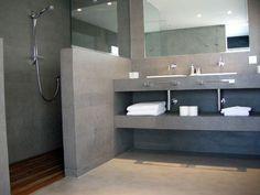 badkamer in decocement/microcement | huis | pinterest, Badkamer #remodelaciondebaños